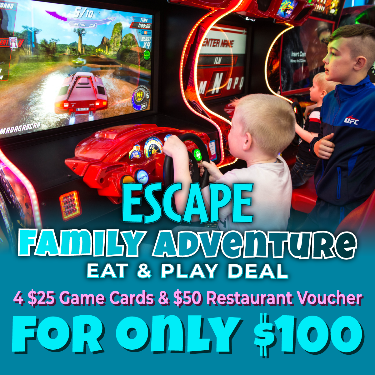 Family Adventure Eat & Play Deal Special