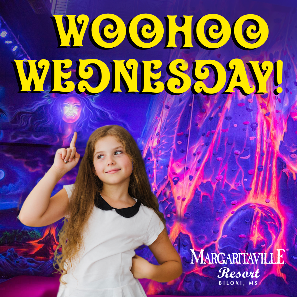 who hoo wednesday 1/2 price play on all arcade games