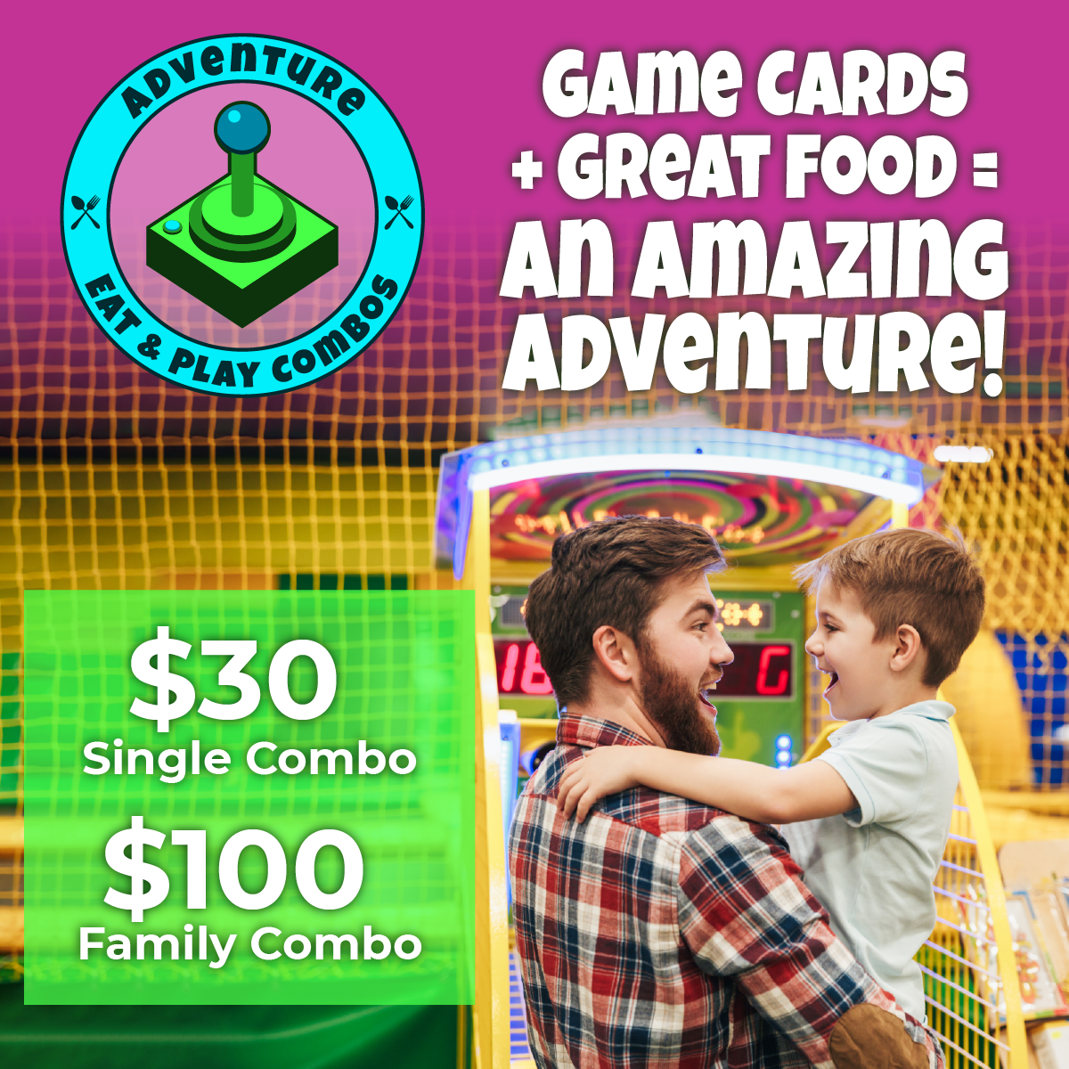 Adventure Eat & Play Deal Special