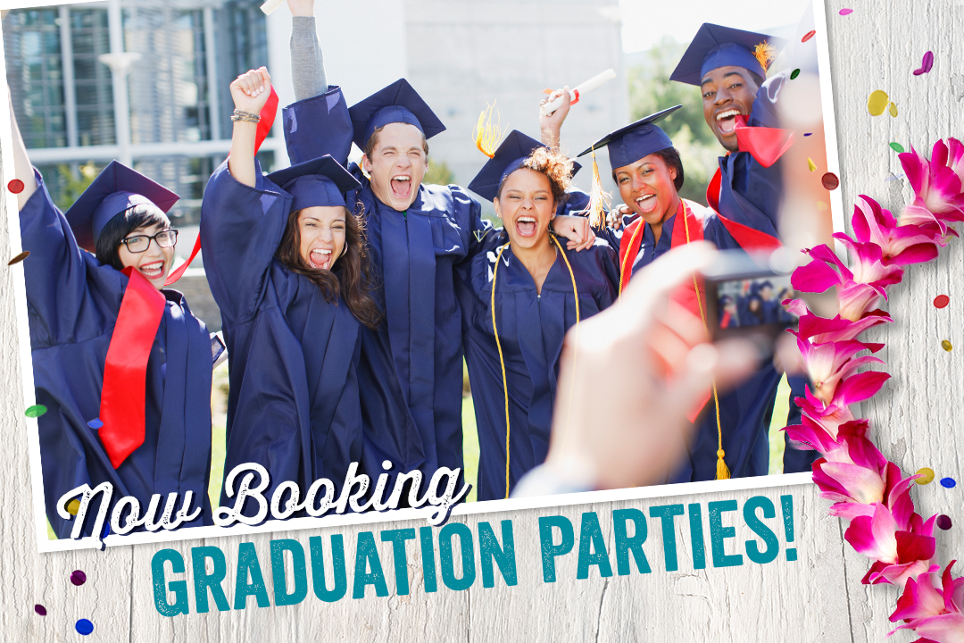 Book your graduation party today