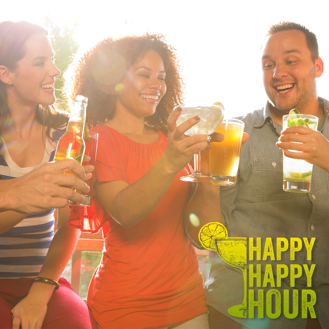 Happy Happy Hour! Monday thru Friday from 5pm to 8pm. $3 well, wine, domestic draft beer and half price margaritas. Does Eat Place offers 2 for 1 house wine and $5 specialty cocktails.