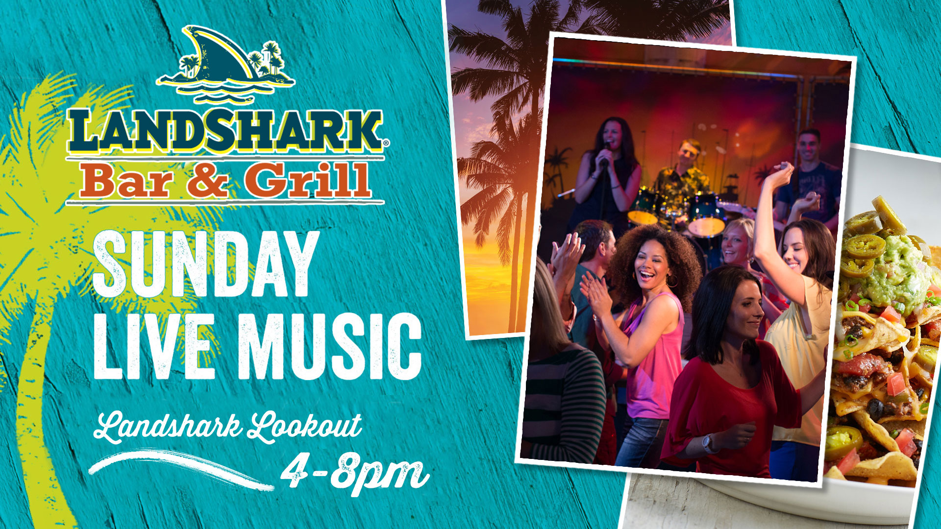 Sunday Live Music at the Landshark Bar and Grill.