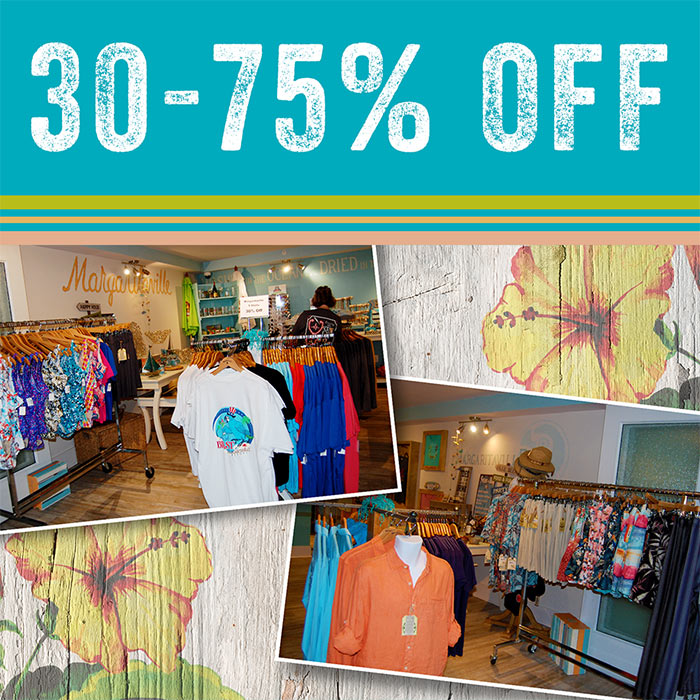 Summer sales with 30% to 75% Off