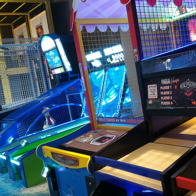 Escape Family Entertainment Center features a large arcade with a game for everybody.