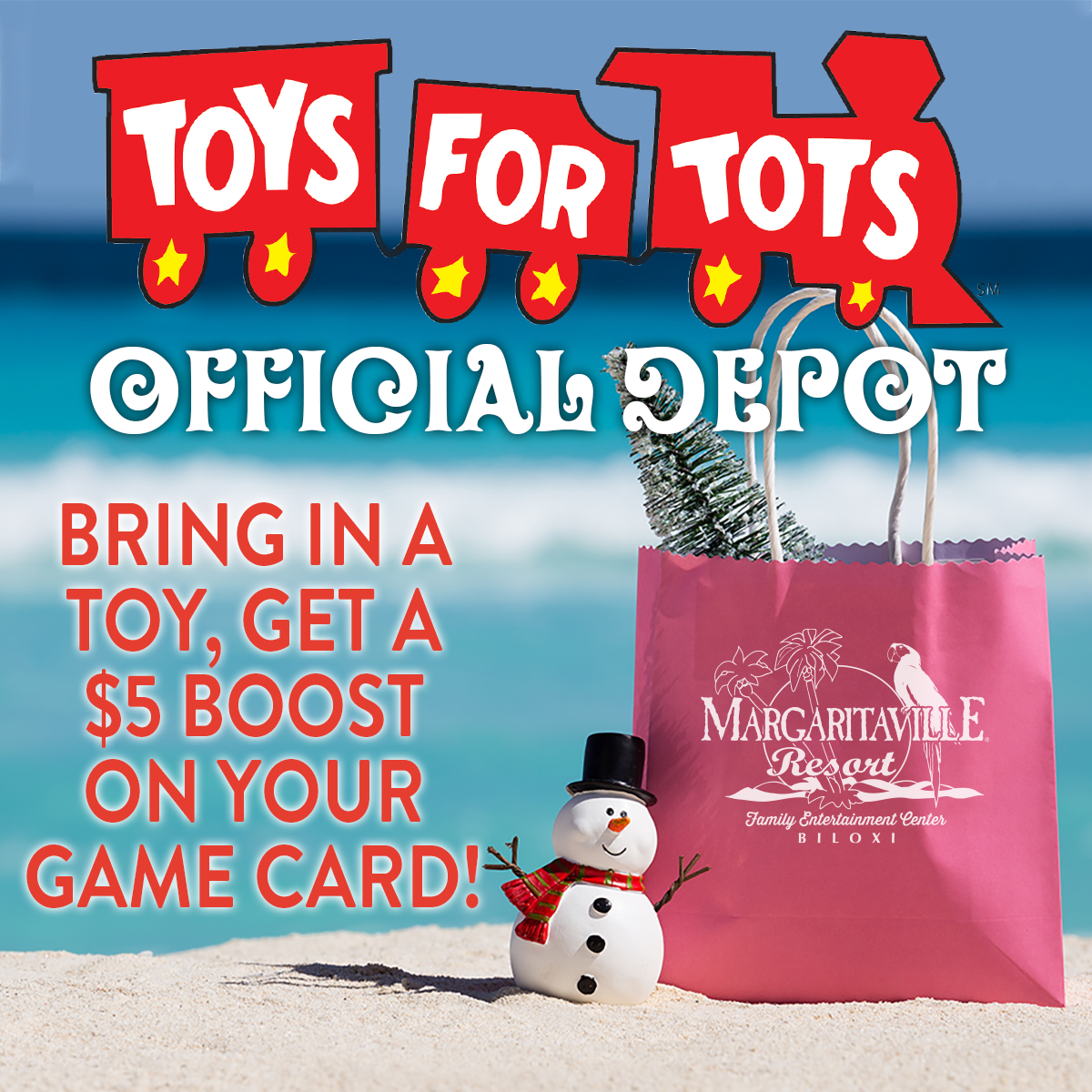 Toys For Tots Drop-off Boost