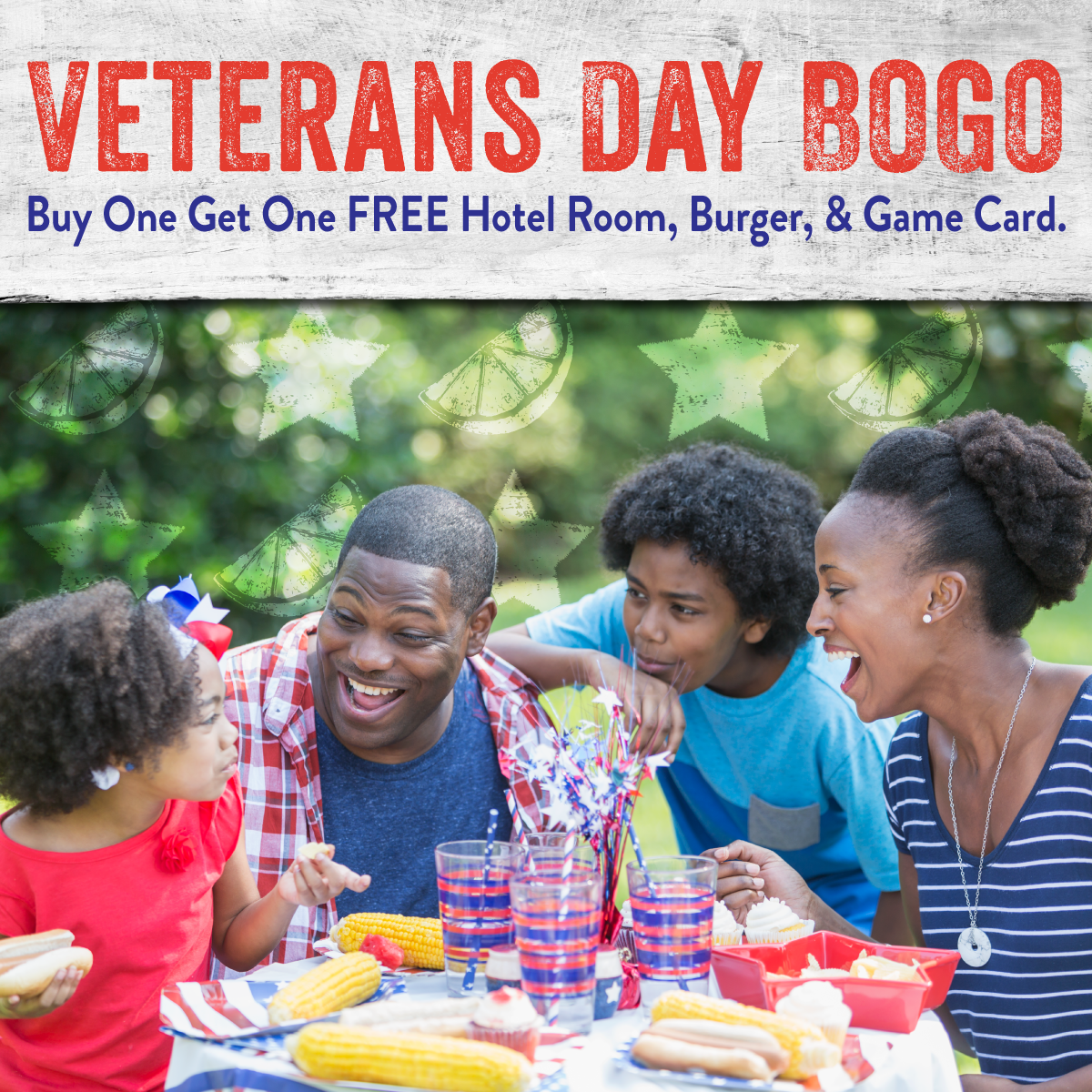 Veteran's Day Buy One Get One