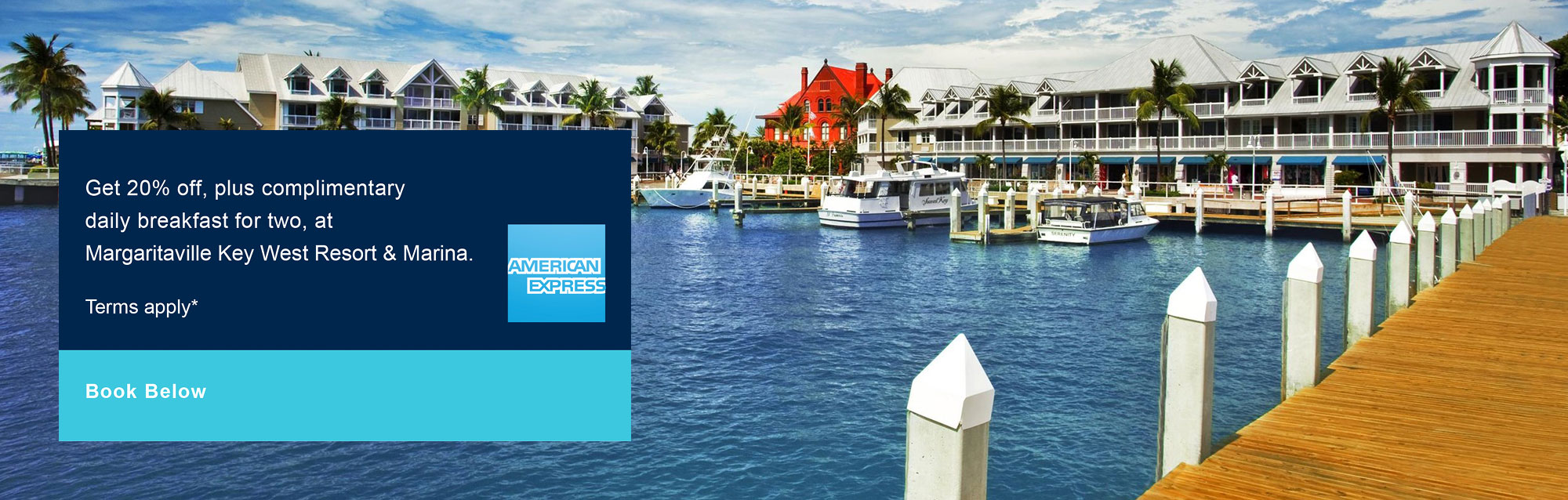 american express discount at margaritaville key west resort & marina
