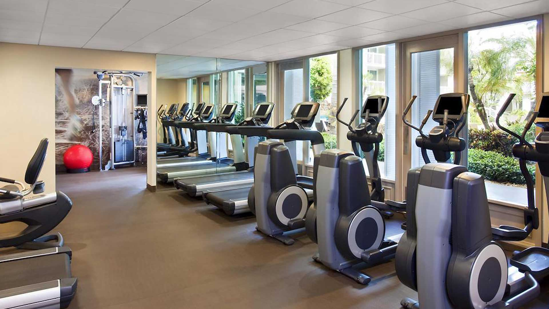 Margaritaville resort & marina fitness studio in key west