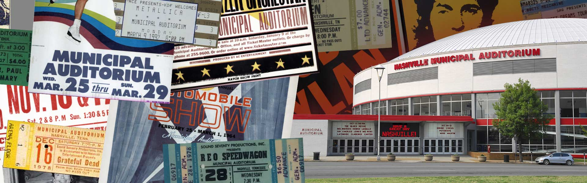 A Multi-Use Nashville Institution Since 1962 For more than 50 years the Nashville Municipal Auditorium has hosted everything from concerts to circuses, auto shows to evangelical crusades, and trade shows to touring extravaganzas.