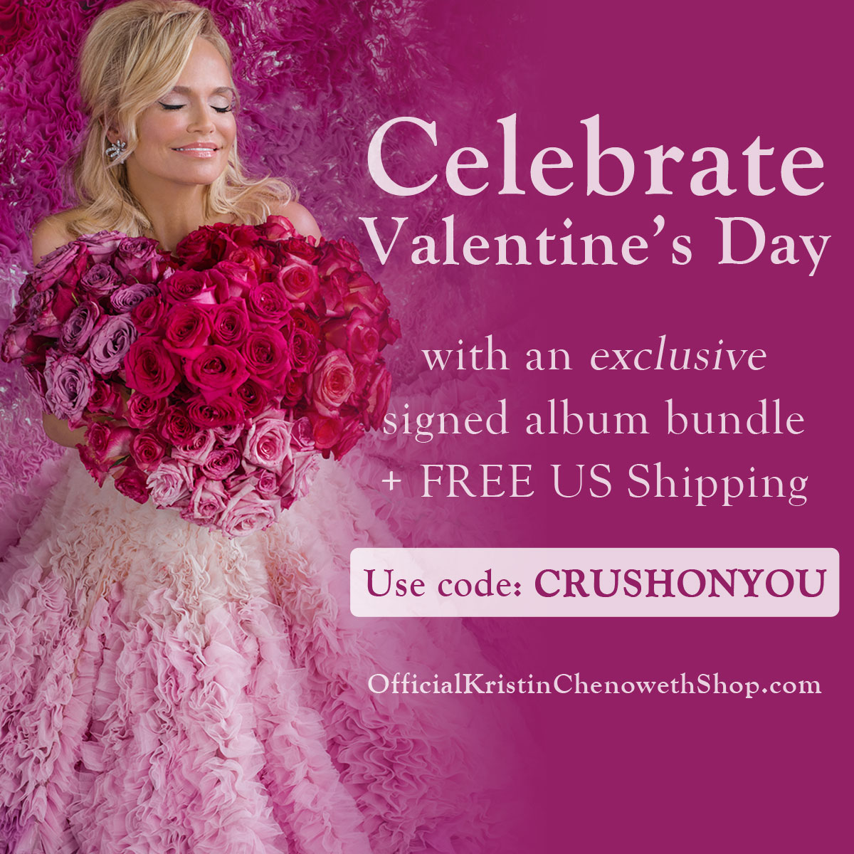 Celebrate Valentine's Day with an Exclusive Signed Merch Bundle + FREE US Shipping!