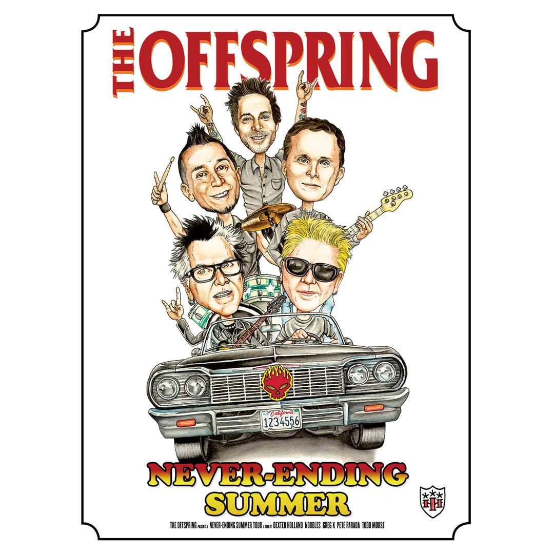 Tattoo artist Tokyo Hiro designed our Summer Tour poster