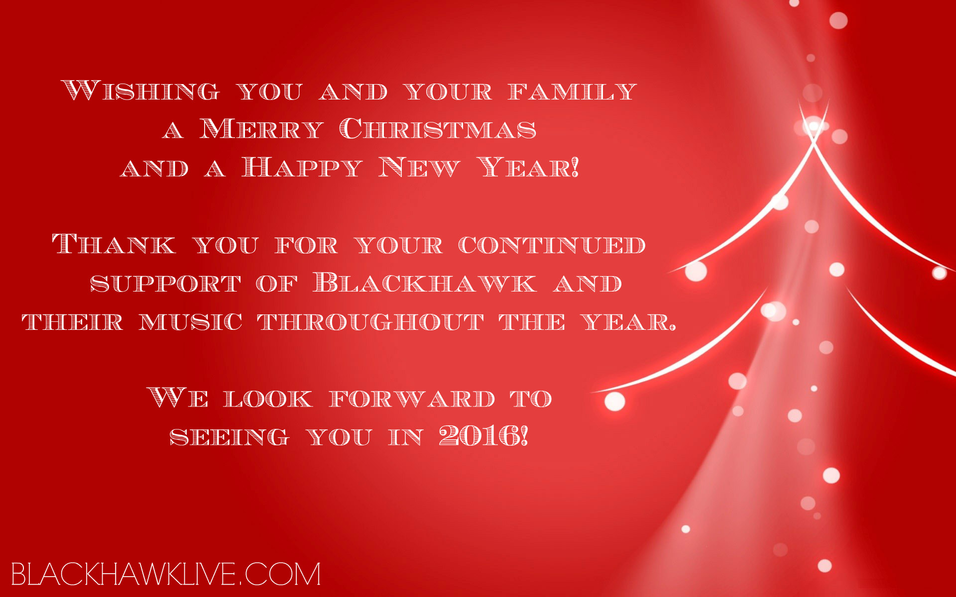 Happy Holidays from Blackhawk!