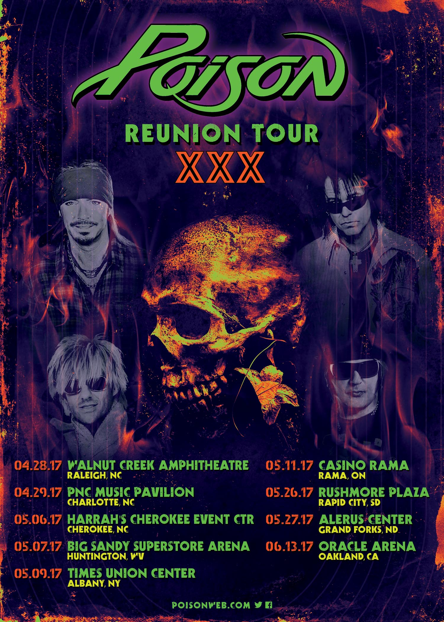 POISON Announces First Headlining Concerts In Over A Decade