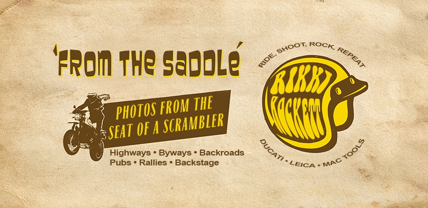 "Rikki Rockett – Launched ""From The Saddle"" (Photos From the seat of a Scramber)"