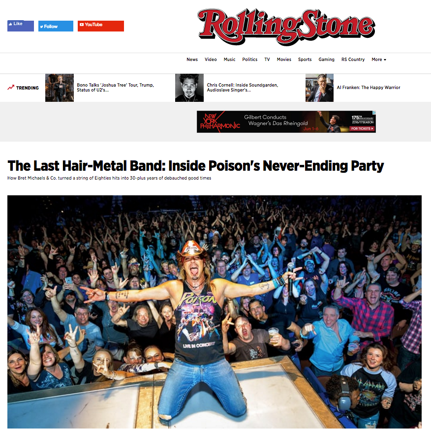 Rolling Stone Magazine - Feature Article