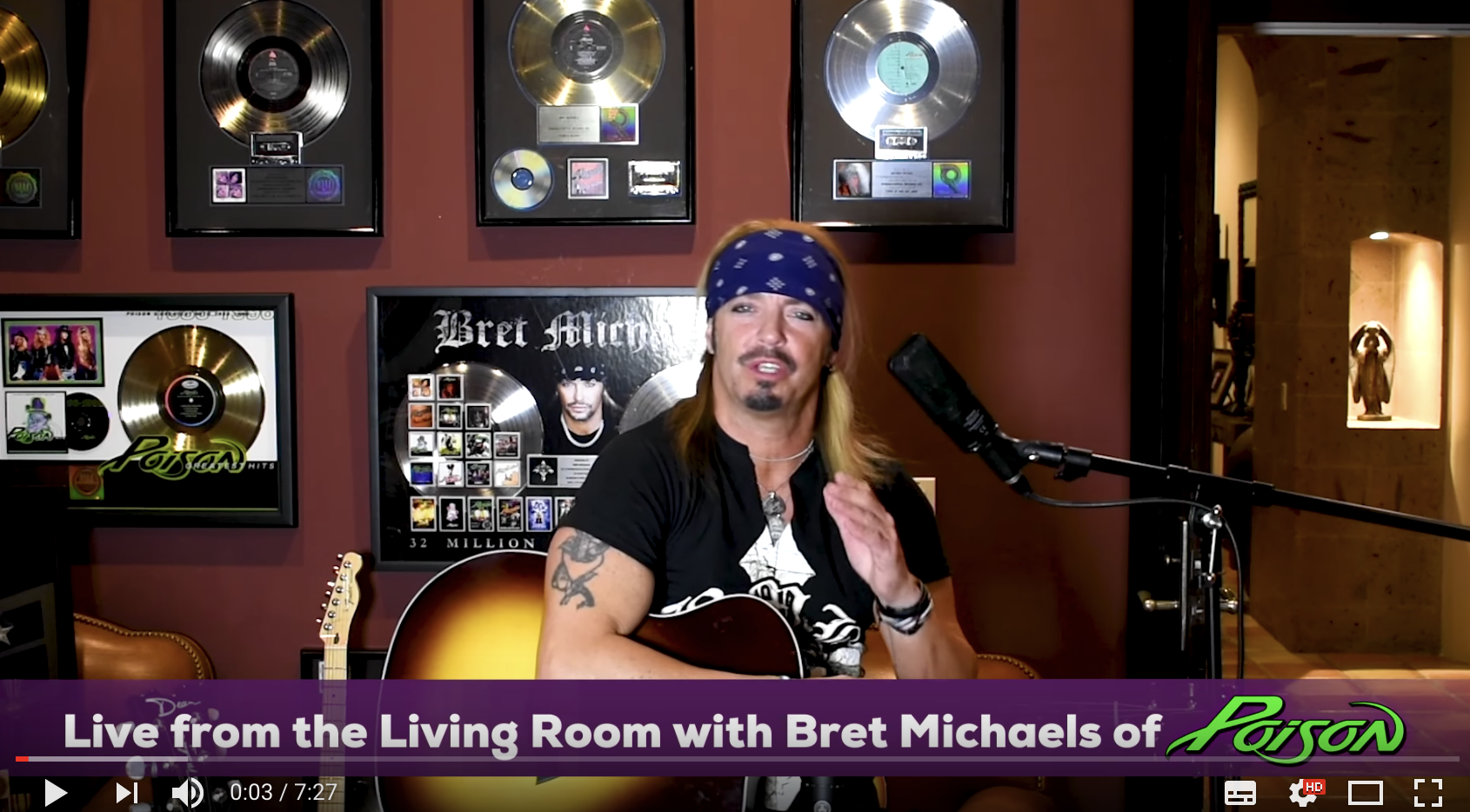 Bret Michaels Introduces New Acoustic Series
