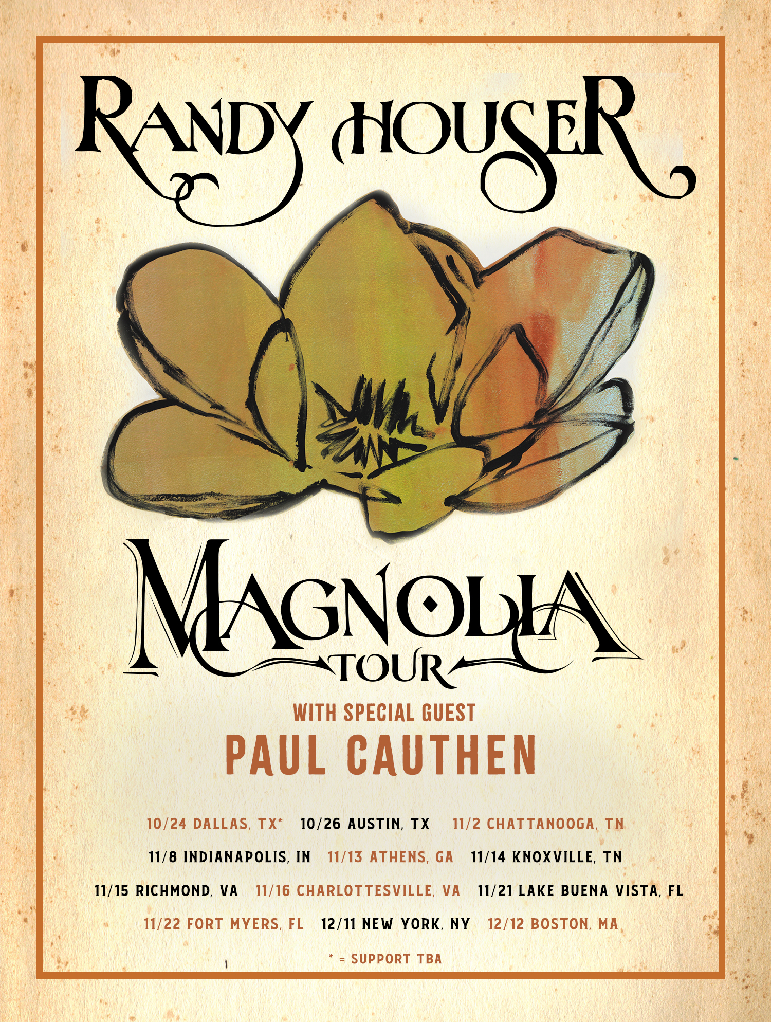 RANDY HOUSER TO SET OUT ON FALL 2019 MAGNOLIA TOUR
