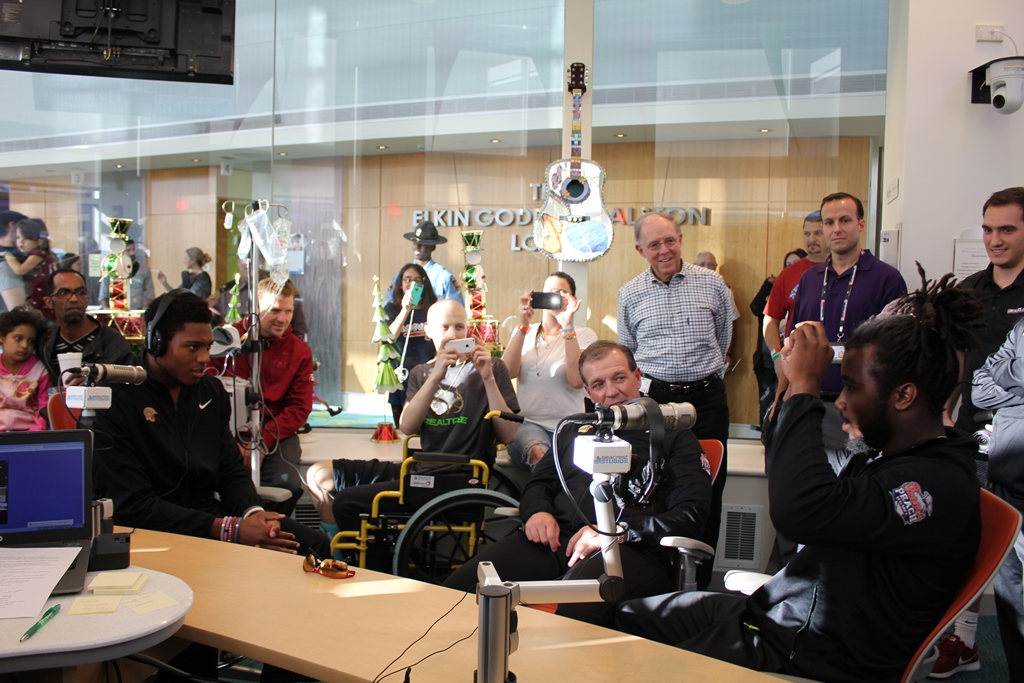 The Florida State Seminoles Make A Special Stop At Seacrest Studios Atlanta
