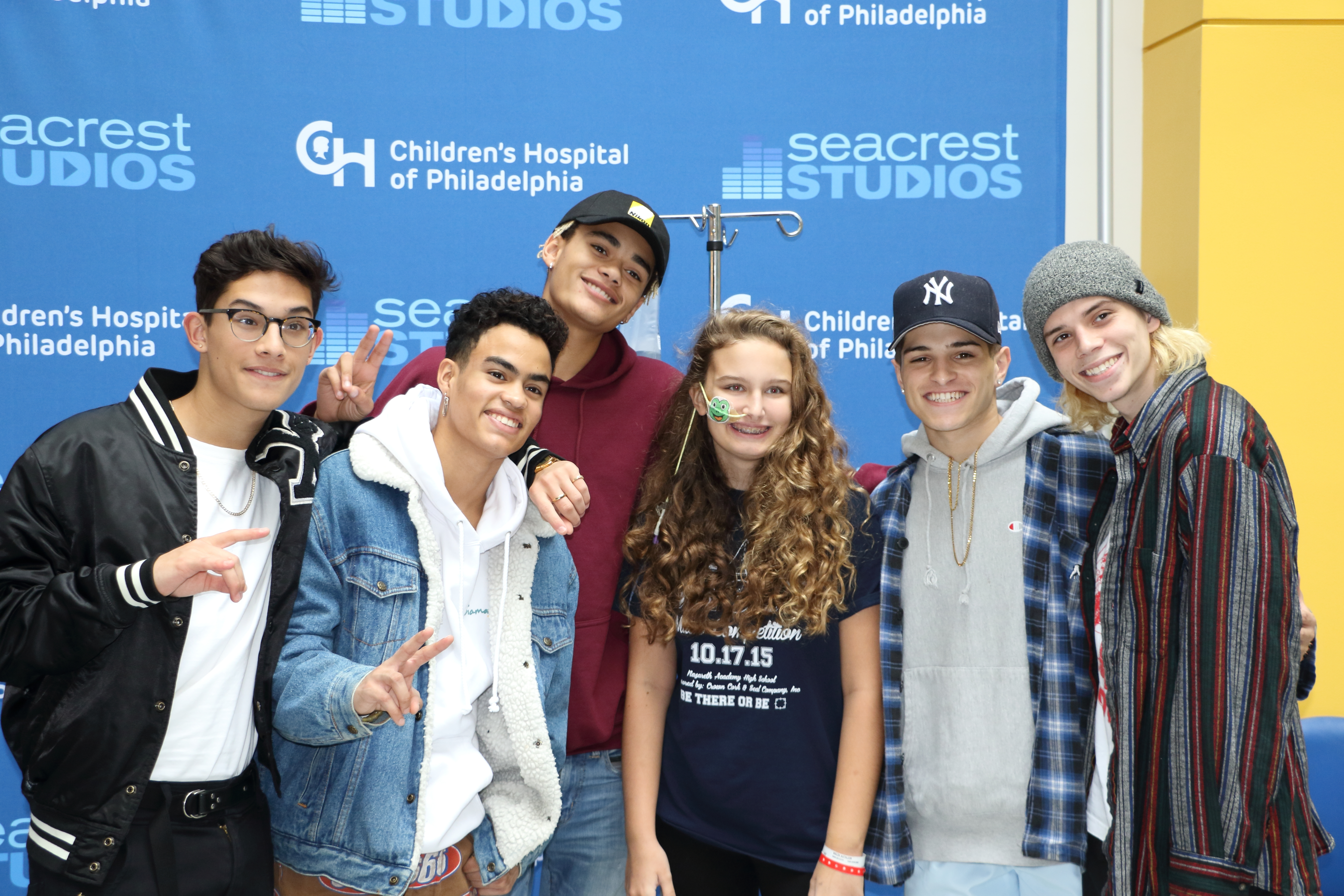 PRETTYMUCH Visits Seacrest Studios at Children's Hospital of Philadelphia