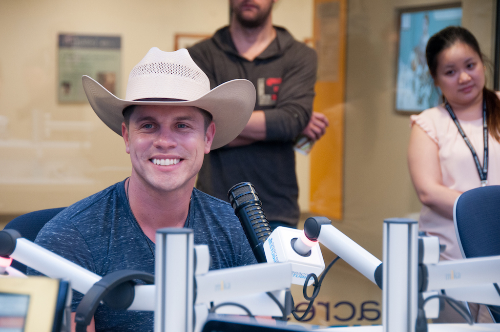 Dustin Lynch Sings For Patients At Seacrest Studios Boston