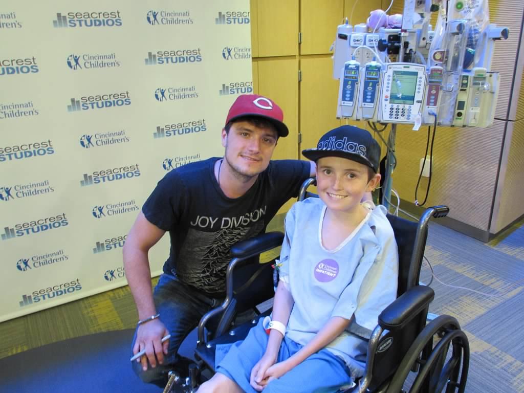 Josh Hutcherson Makes an All Star Visit to Seacrest Studios