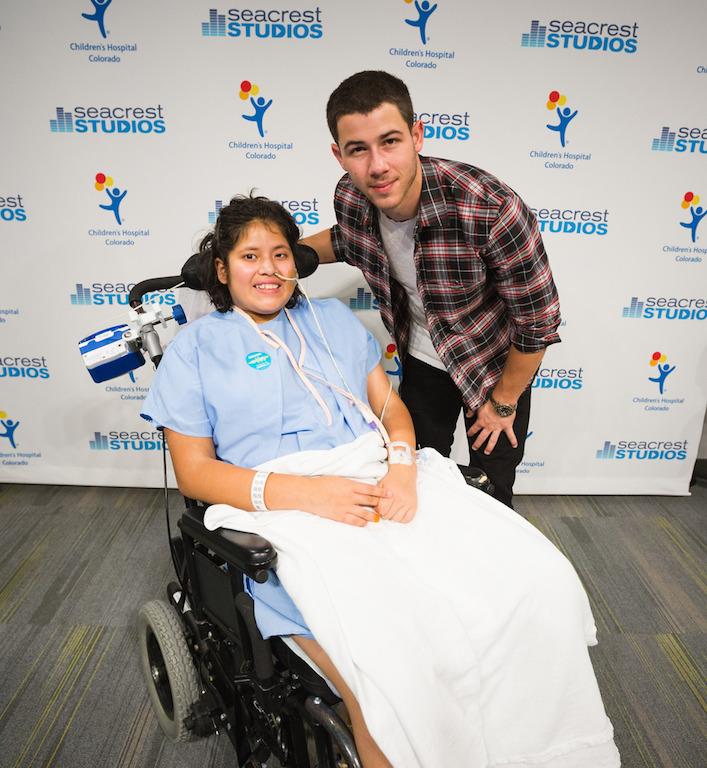 RSF Ambassador Nick Jonas Inspires Patients At Seacrest Studios Colorado