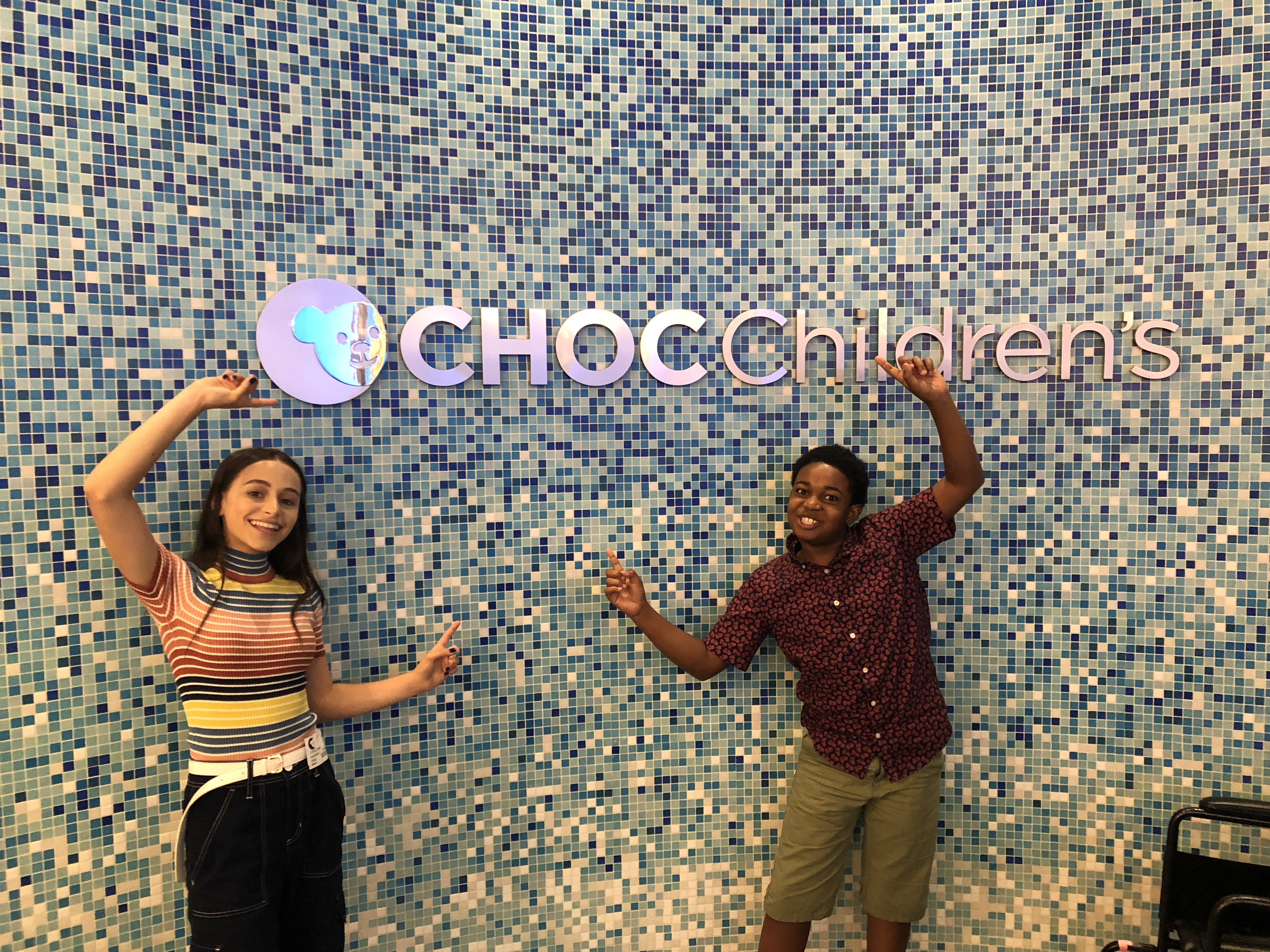 Issac Brown and Sky Katz Bring Laughter to Kids at CHOC Children's!