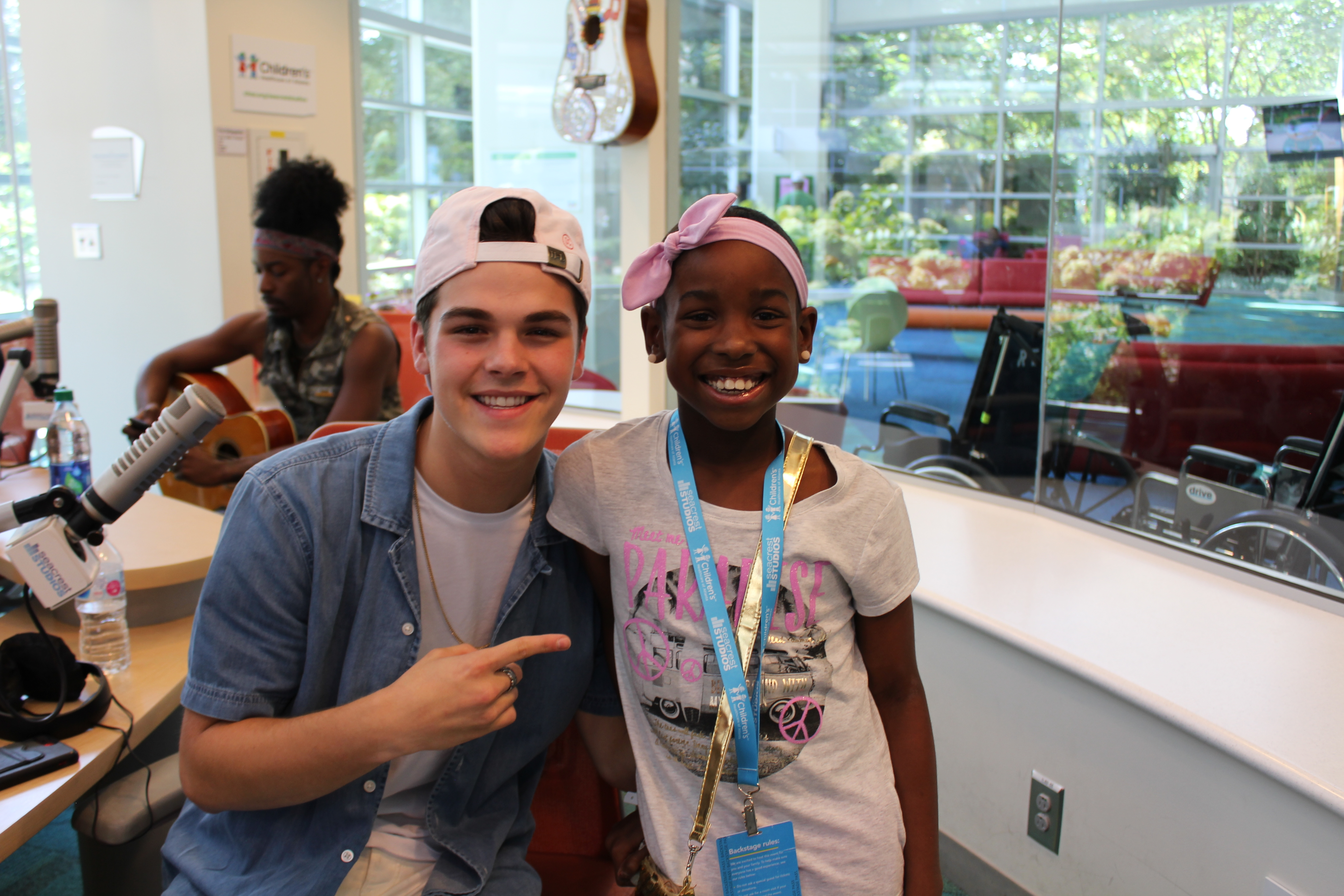 AJ Mitchell Performs for Patients at Children's Healthcare of Atlanta