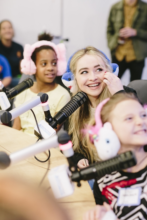 Sabrina Carpenter Performs 'On Purpose' For Patients At Seacrest Studios Dallas