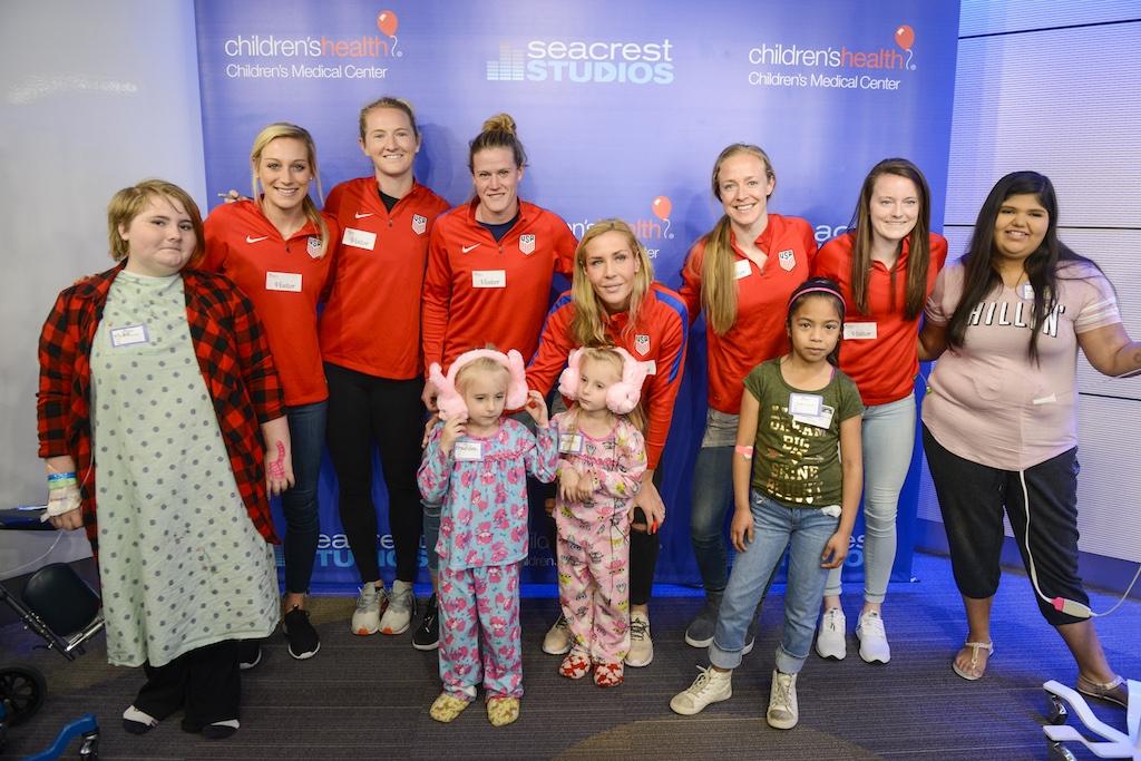 U.S. Women's National Team Visits Patients at Seacrest Studios