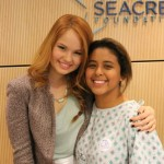 Debby Ryan Spreads Holiday Cheer at Seacrest Studios