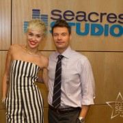 Ryan Seacrest with Miley Cyrus