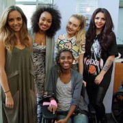 Little Mix Visits Seacrest Studios at Levine Children's Hospital