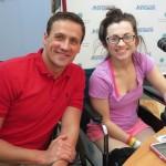 Ryan Lochte Visits Seacrest Studios In Charlotte!