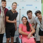 The Vamps shared encouraging words with patients in Seacrest Studios.