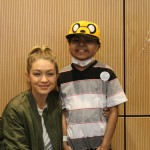 Gigi Hadid Makes Patients Smile At Seacrest Studios
