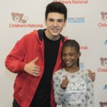 Daniel Skye Plays Games With Patients At Seacrest Studios Washington D.C.