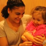 Laurie Hernandez Visits Patients At Seacrest Studios Orange County