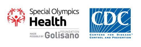 images of the Centers for Disease Control next to the Speical Olymics logo