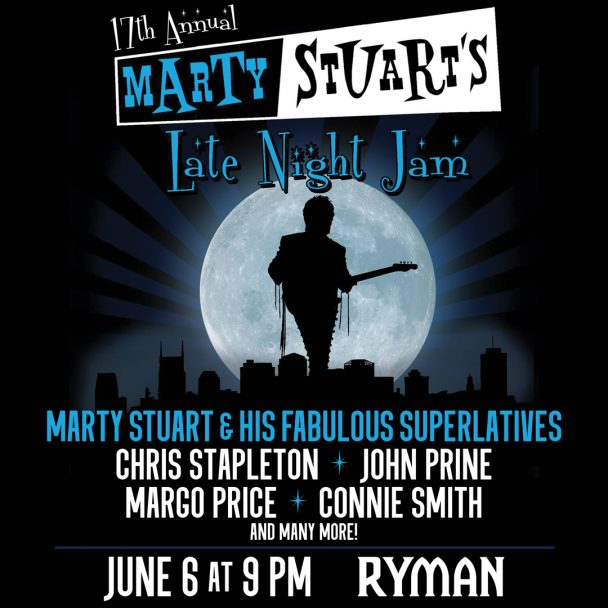 "Marty Stuart Announces ""Late Night Jam"" featuring Chris Stapleton, John Prine, Margo Price, Connie Smith, and more"