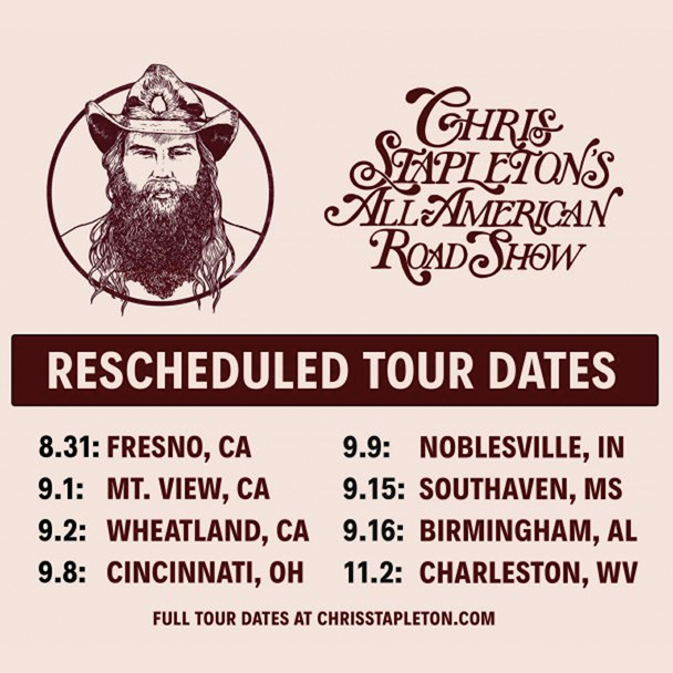Tour Dates Rescheduled
