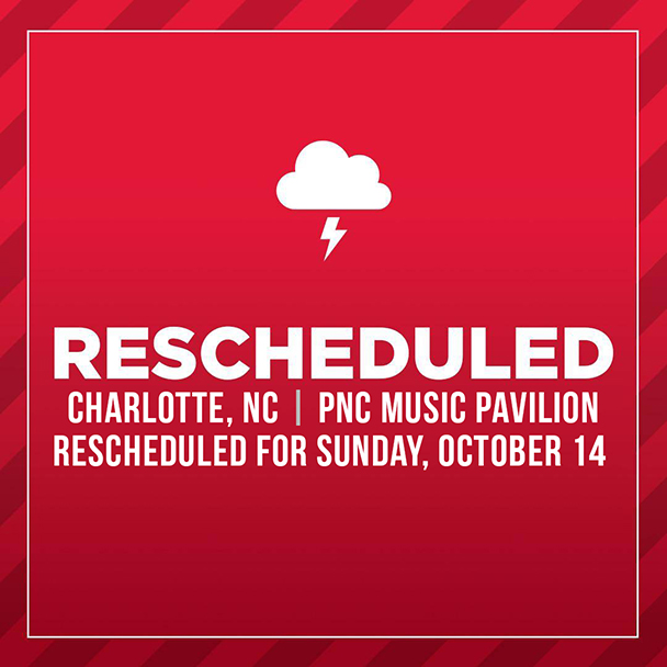 Thursday, October 11 Show Rescheduled for Sunday, October 14