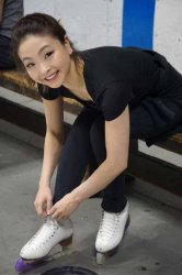 Maia Shibutani gets ready to take the ice