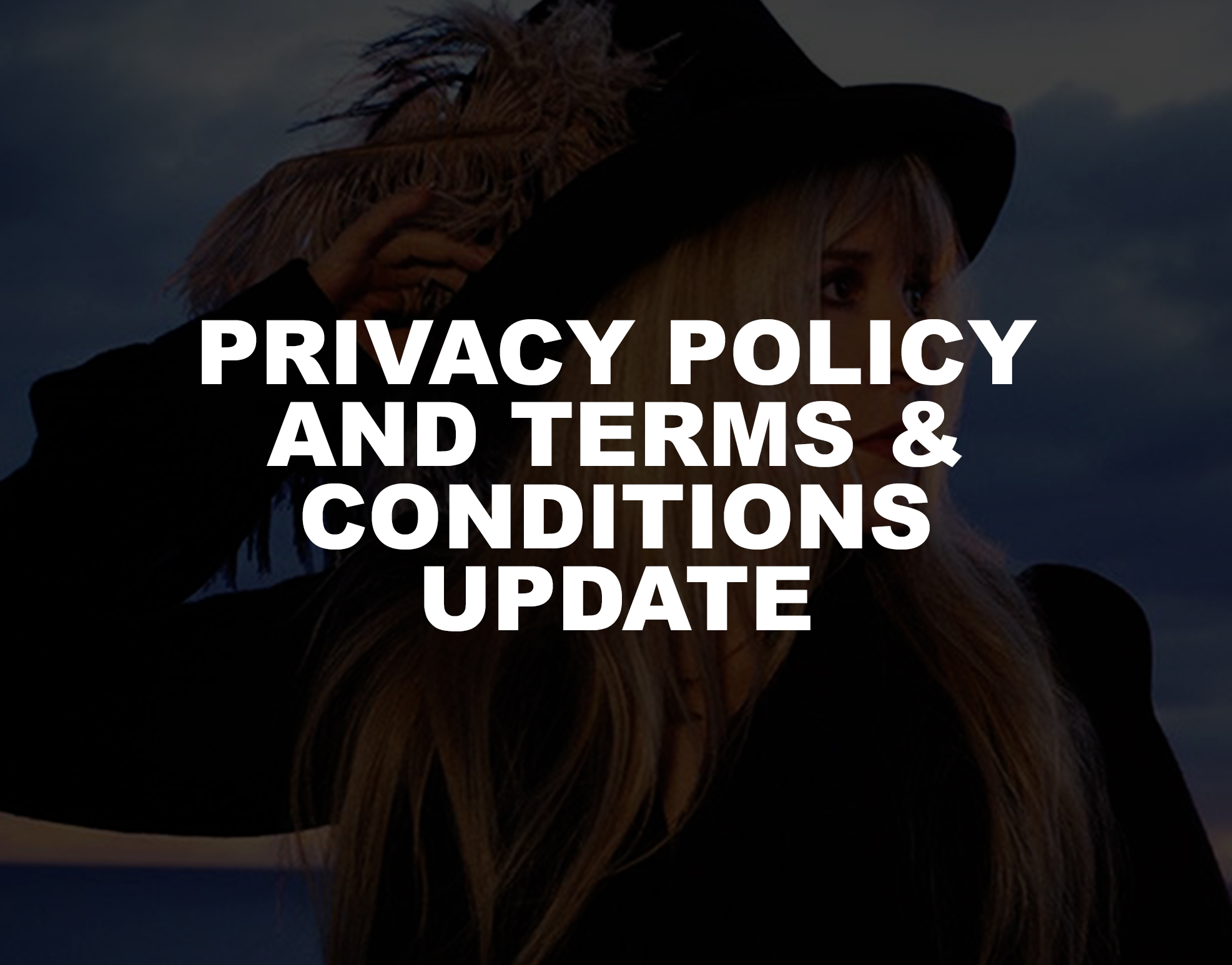 Privacy Policy and Terms & Conditions Update