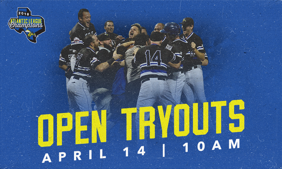 Skeeters to Host Player Tryouts on April 14