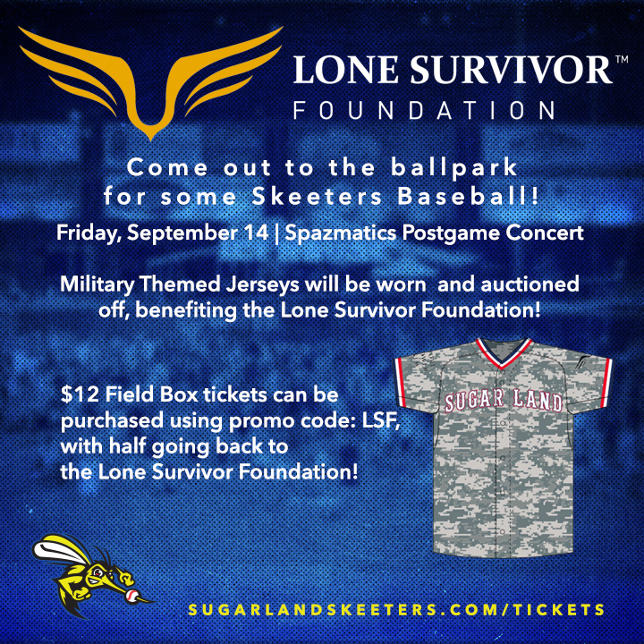 Skeeters to Host Lone Survivor Foundation Benefit Night