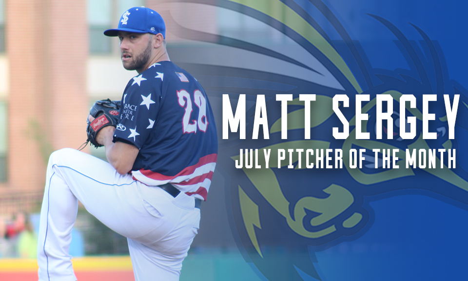 Matt Sergey Named July Pitcher of the Month