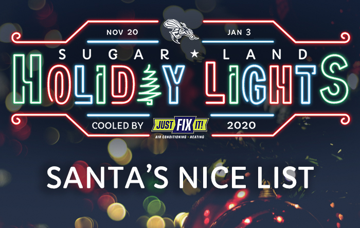 Sugar Land Holiday Lights: Santa's Nice List