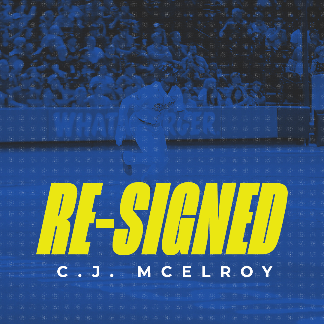 Skeeters Re-Sign OF C.J. McElroy