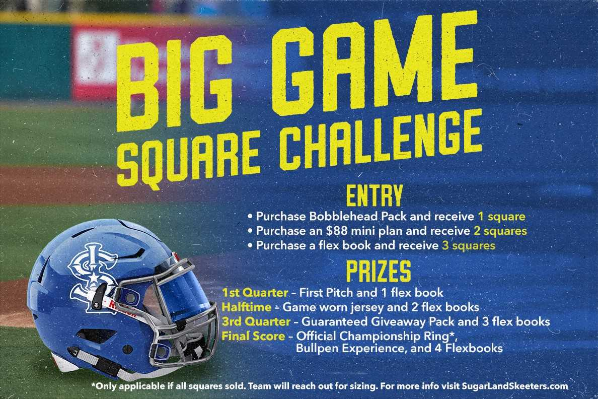 Big Game Square Challenge
